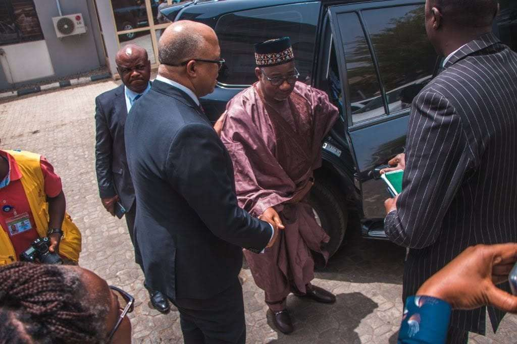 Governor Bala Mohammed at NCDC before testing positive for coronavirus 