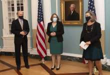 Ambassador Mary Catherine Phee, President Joseph R. Biden Jr.'s top diplomat for Africa was sworn into office on Thursday, September 30, 2021, by U.S. State Department Under Secretary Victoria Nuland