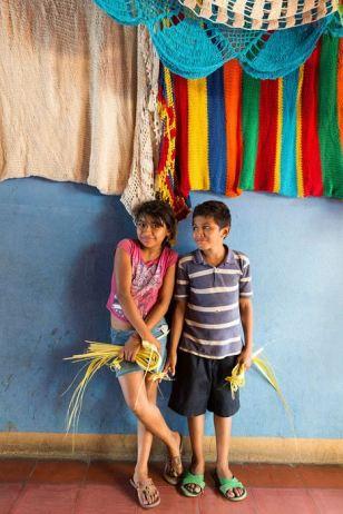 Children at the Masaya market.