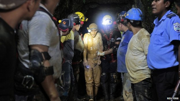 The miners were approximately 200m (650ft) underground when the cave-in happened
