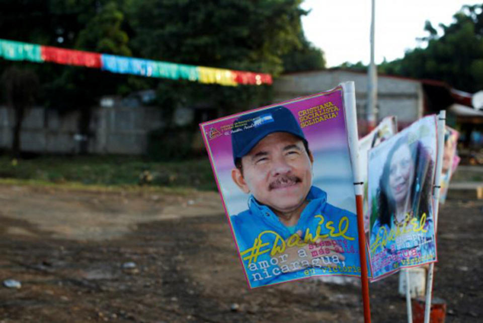 President Daniel Ortega and Nicaragua's First Lady, Rosario Murillo, head to the polls today, to be elected President and Vice-President.