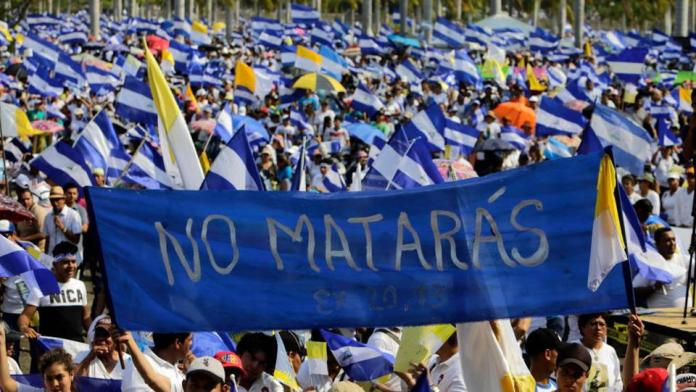 Thousands People Join Anti-Government March in Nicaragua