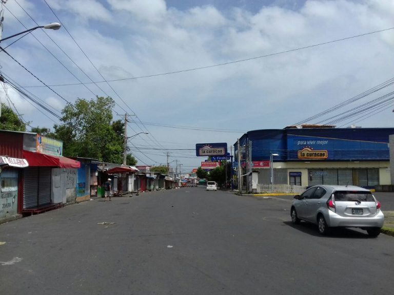 the national strike in photos videos today nicaragua news