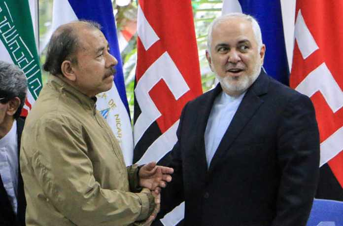 """Iran's Foreign Minister visits Nicaragua to join forces against US """"economic terrorism"""""""