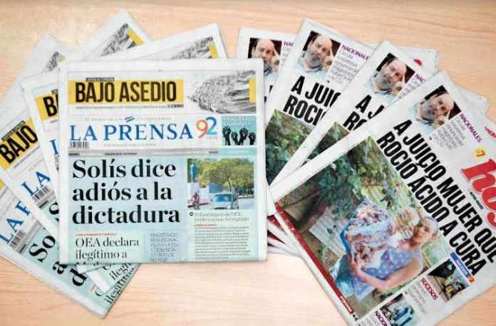 La Prensa and El Nuevo Diario may have to stop circulating due to the retention of raw materials by the Government