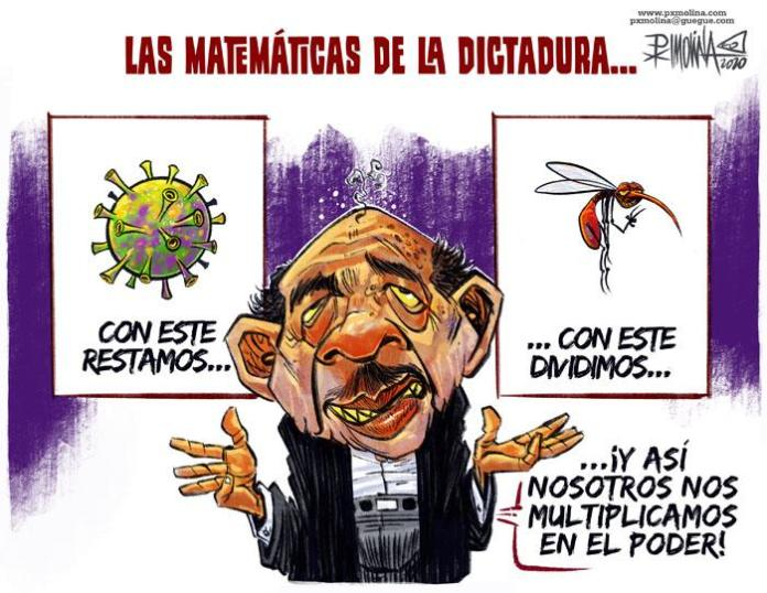 The macabre calculations of Daniel Ortega with the COVID-19