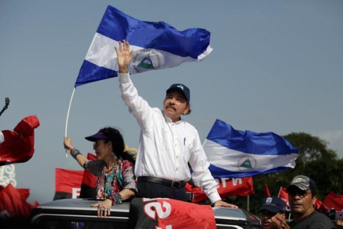 Nicaragua's Ortega, battling protests, calls for peace on anniversary