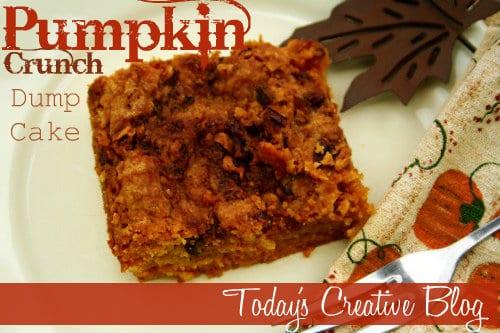 pumpkin crunch dump cake recipe