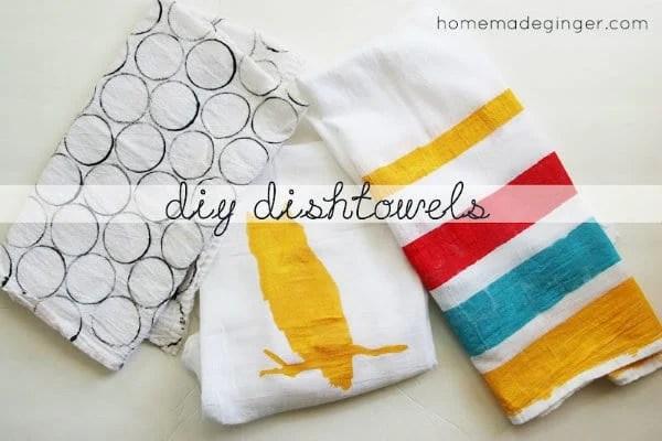 diy dish towels