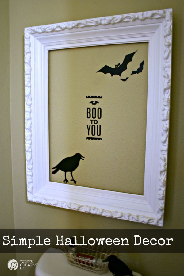 Silhouette Cameo Halloween Decor | Easy DIY Home Decor projects on TodaysCreativeLife.com