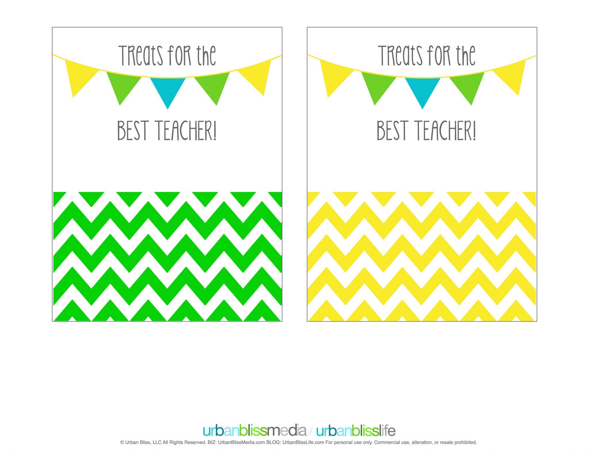 Printable Teacher Appreciation T Card Holder
