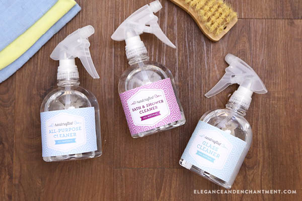 Weekly Cleaning Schedule Printable | Find printable labels at Elegance & Enchantment!