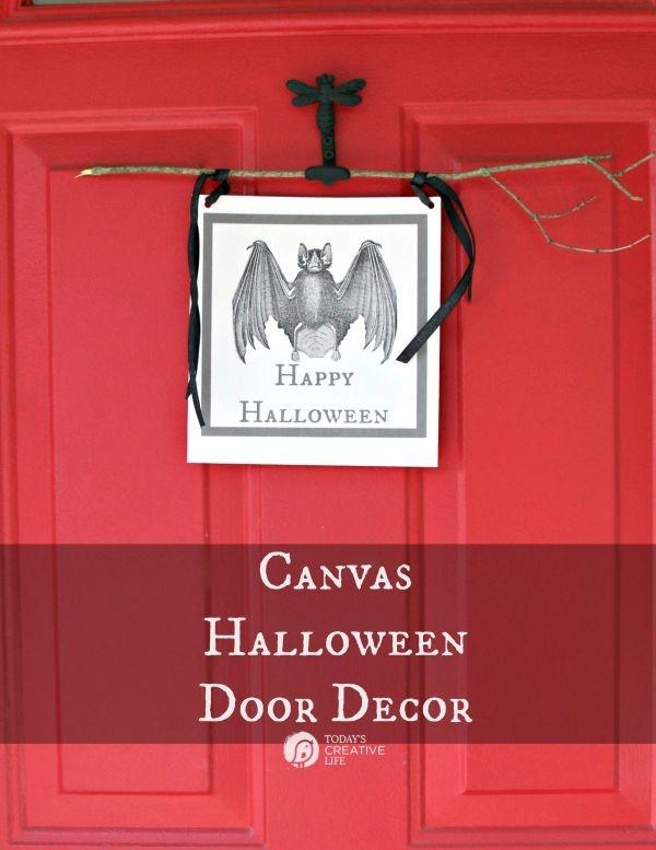 Canvas Halloween Door Decor TodaysCreativeLife.com