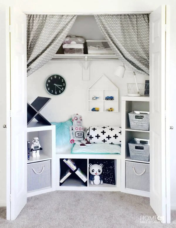 Closet Turned Kids Play Area by Home Made by Carmona