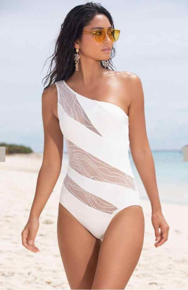 White One Shoulder Swimsuit
