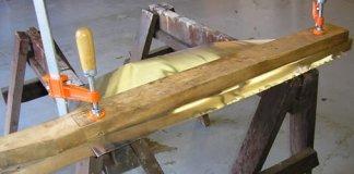 Making a homemade rain diverter from sheet metal.