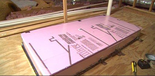 Ckompleted foam insulated attic box