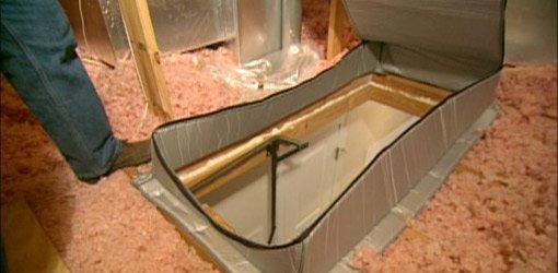 Premade insulation attic staircase cover