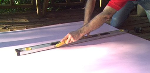 Cutting foam board to size