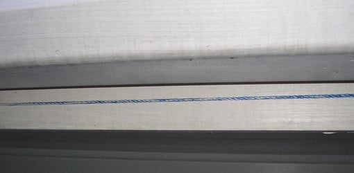 Using chalk line to hang gutters