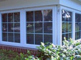 Corner windows on house.