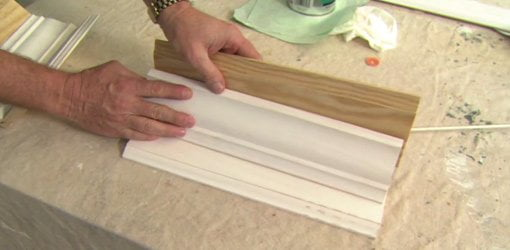 Combine baseboard and crown molding to create custom molding.