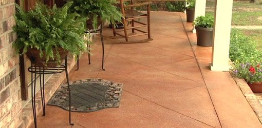 how to score and acid stain a concrete slab porch or patio