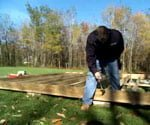 buidling a shed foundation on a grade
