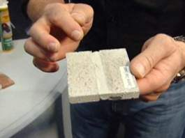 Flexible concrete caulking sample
