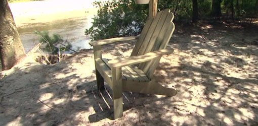 Completed Adirondack chair.