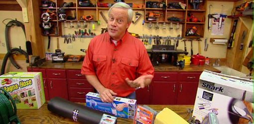 Danny Lipford with TV products to test