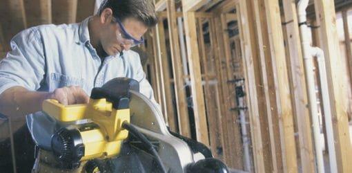 Cutting board in miter saw