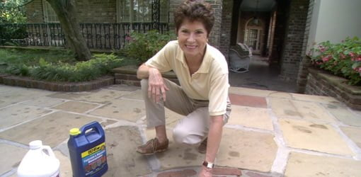 cleaning and sealing a brick or stone patio