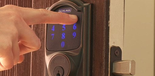 Opening the Touchscreen Deadbolt from Schlage