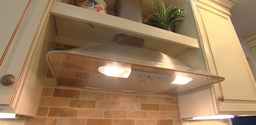 to vent a range hood through the roof