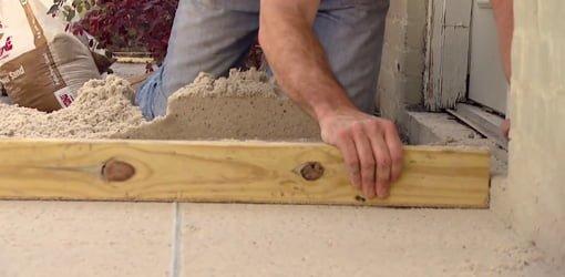 paver patio sand base leveling tip