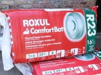 Roxul stone wool insulation.