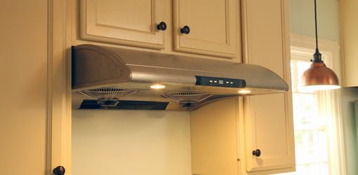 kitchen range hood or over the range microwave for venting