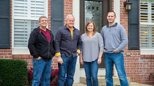 Allen Lyle and Danny Lipford with homeowners Laura and Stephen Cooper.