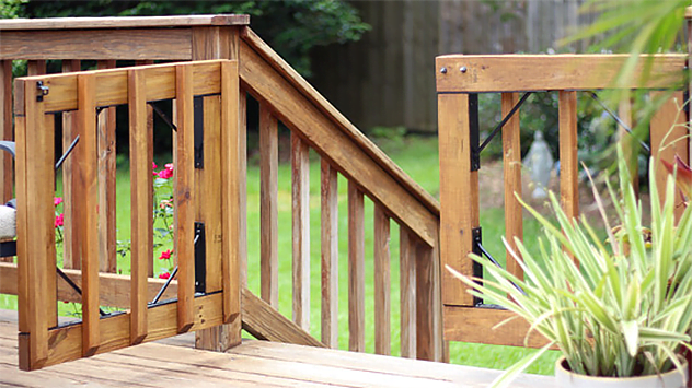How to Build Gates for a Wood Deck | Today's Homeowner