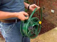 Magna Hose flat garden hose with reel