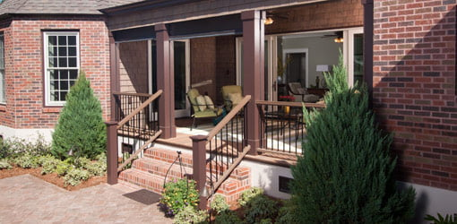 Back porch and paver patio