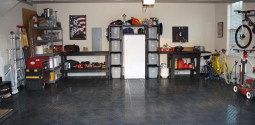 Garage after completed makeover.