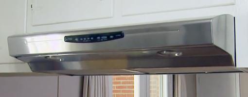 NuTone Allure III stainless steel range hood.
