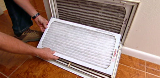 Replace the air filter on your HVAC system regularly to improve air quality.