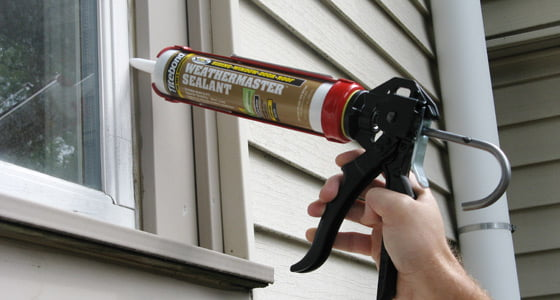 Caulking window with Titebond® WeatherMaster™ Sealant