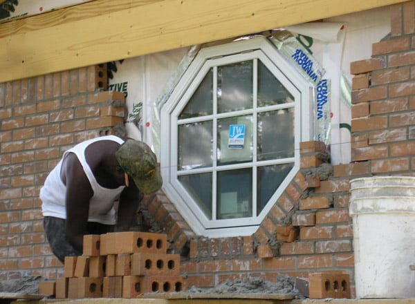 Bricking the octagonal window