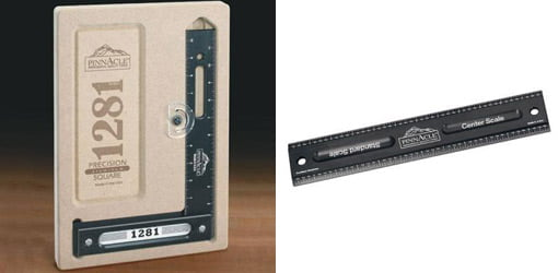 """Pinnacle Precision Square and Pinnacle 12"""" Woodworking Rule"""