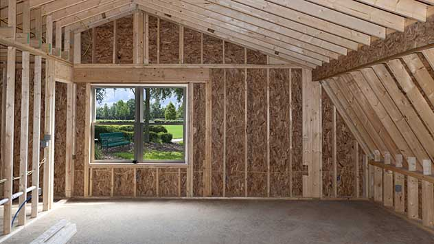 Home addition, from inside