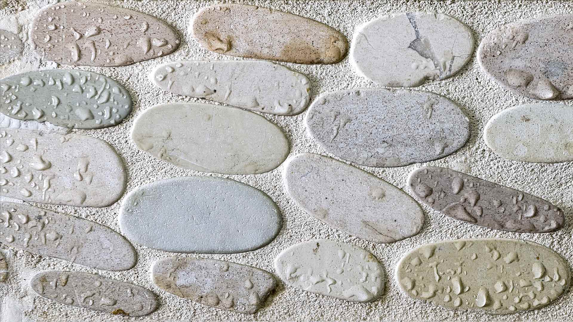 the best grout for your pebble shower